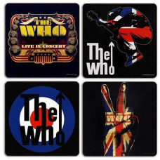 WHO, 4 Piece Coaster Set